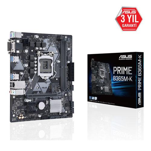 ASUS INTEL PRIME B365M-K B365 DDR4 2666 VGA GLAN 1151p-8 M.2 SATA USB3.1