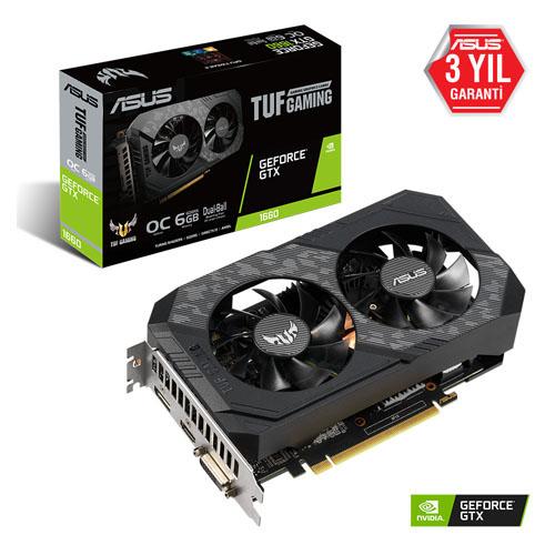 ASUS Nvidia 6GB GTX1660 GDDR6 192 Bit TUF-GTX1660-O6G-GAMING 2XHDMI DVI 2xDP