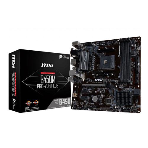 MSI AMD B450M PRO-VDH PLUS B450 DDR4 3466 DVI VGA HDMI GLAN AM4 M.2 USB3.1 mATX