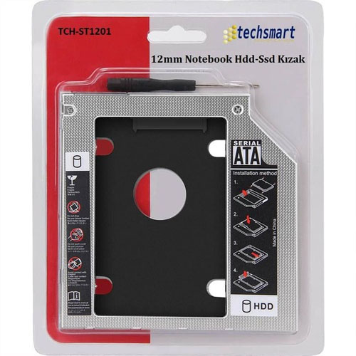 TECHSMART TCH-ST1201 Sata 12.7mm SSD Kızak Harddisk Kutusu