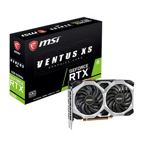 MSI 6GB RTX2060 GDDR6 192 Bit RTX 2060 VENTUS XS 6G OC (1x HDMI 3xDP) DX12 PCIE 3.0 x16