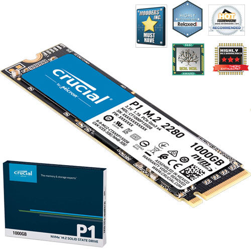 CRUCIAL P1 1TB M.2 NVME PCIE 2000/1700 MB/s CT1000P1SSD8