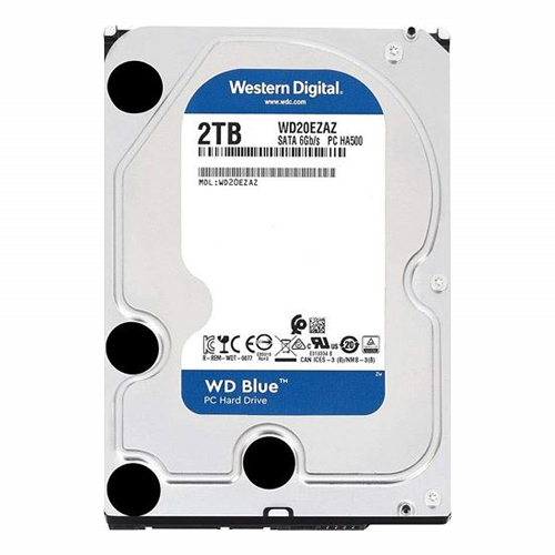 WD 3.5 Blue 2TB 5400 RPM 64MB SATA III PC HDD WD20EZAZ