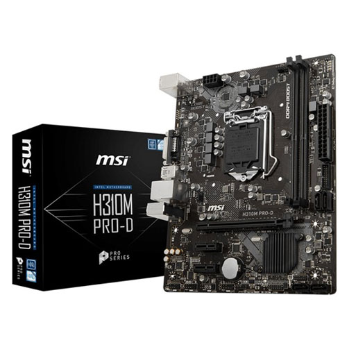 MSI INTEL H310M PRO-D PLUS H310 DDR4 2666 DVI GLAN 1151P-9 mATX