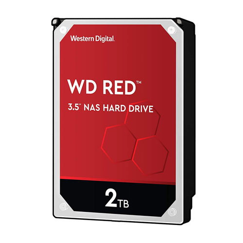 WD 3.5 RED 2TB INTELLIPOWER 64MB SATA3 NAS HDD WD20EFAX (7/24)