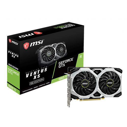 MSI 6GB GTX1660TI GeForce GDDR6 192 Bit GTX 1660 Ti VENTUS XS 6G OC (1x HDMI 3xDP) DX12 PCIE 3.0 X16