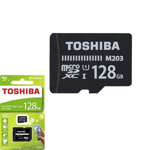 TOSHIBA 128GB SDXC UHS-1 C10 100MB -M203 Class10 THN-M203K1280EA