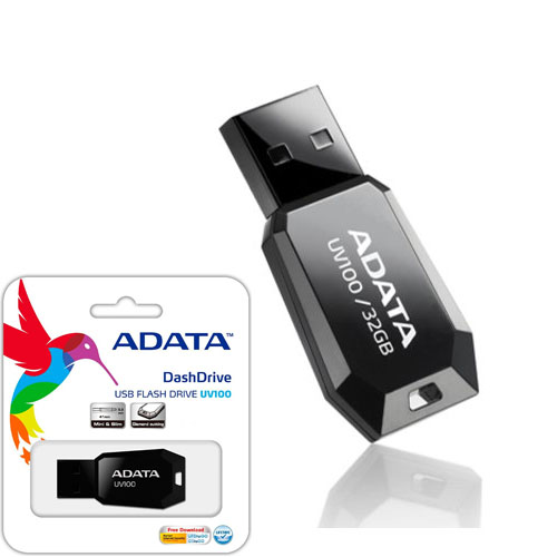 A-DATA 32GB UV100 Siyah Usb 2.0 Flash Disk AUV100-32G-RBK