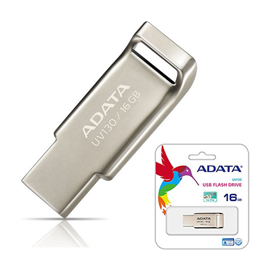 A-DATA 16GB UV130 Champagn Gold Metal Usb 2.0 Flash Disk AUV130-16G-RGD