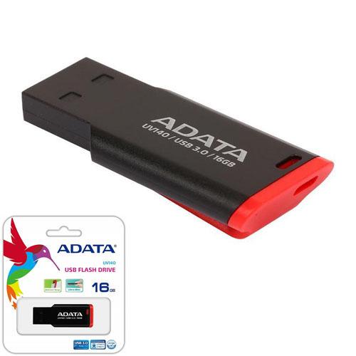 A-DATA 16GB UV140 Kırmızı/Siyah USB 3.1 Flash Disk AUV140-16G-RKD