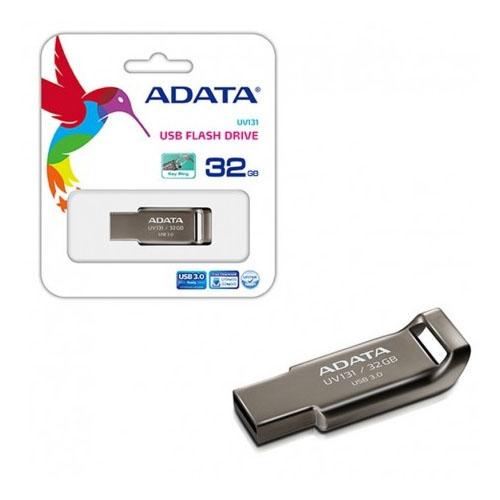 A-DATA 32GB UV131 Krom Gri Metal USB 3.1 Flash Disk AUV131-32G-RGY