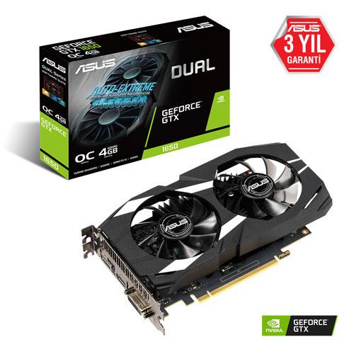 ASUS Nvidia 4GB GTX1650 GDDR6 128 Bit DUAL-GTX1650-O4G HDMI DVI DP