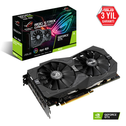 ASUS Nvidia 4GB GTX1650 GDDR5 128 Bit ROG-STRIX-GTX1650-A4G-GAMING HDMI 2xHDMI 2xDP
