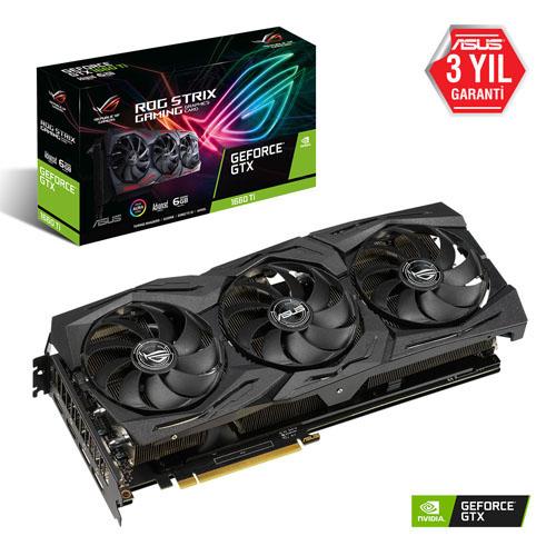 ASUS Nvidia 6GB GTX1660TI GDDR6 192 Bit ROG-STRIX-GTX1660TI-A6G-GAMING 2xHDMI 2xDP