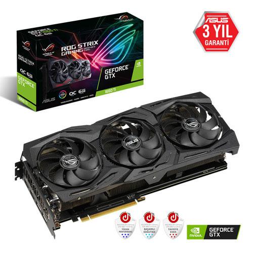 ASUS Nvidia 6GB GTX1660TI GDDR6 192 Bit ROG-STRIX-GTX1660TI-O6G-GAMING 2xHDMI 2xDP