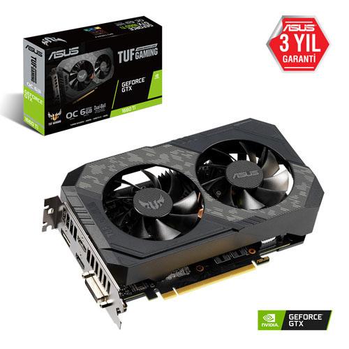 ASUS Nvidia 6GB GTX1660TI GDDR6 192 Bit TUF-GTX1660TI-O6G-GAMING 2xHDMI DVI DP