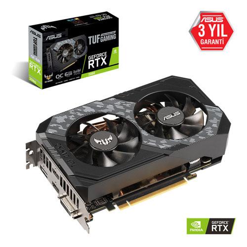 ASUS Nvidia 6GB RTX2060 GDDR6 192 Bit TUF-RTX2060-O6G-GAMING 2xHDMI DVI DP
