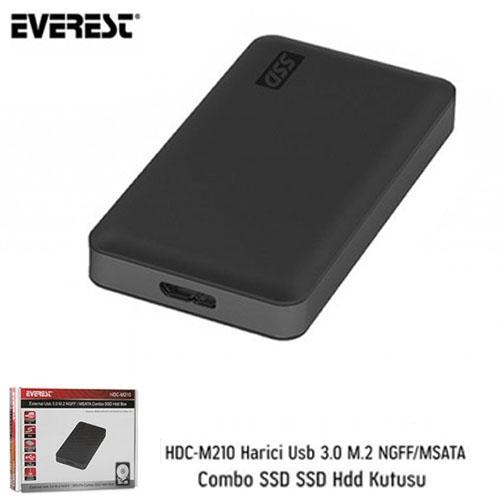 EVEREST M.2 Sata HDC-M210 NGFF/mSata Usb 3.0 Harddisk Kutusu