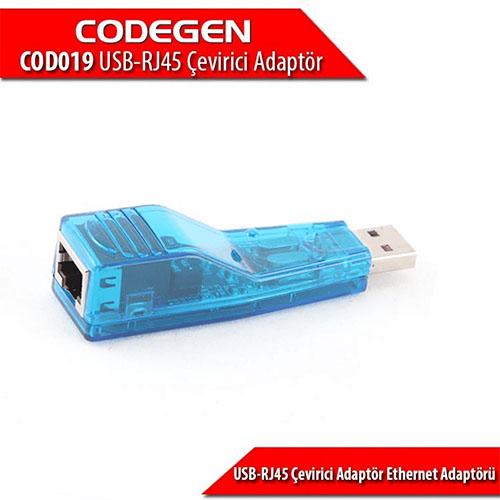 Codegen COD019 USB2.0 to RJ45 Ethernet çevirici