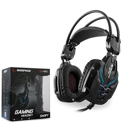 Rampage SN-R10 Alquist Ledli Gaming Mikrofonlu Kulaklık 2m Kablolu Siyah