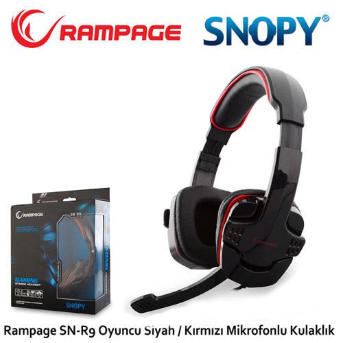 Rampage SN-R9 Gaming Mikrofonlu Kulaklık Siyah/Kırmızı