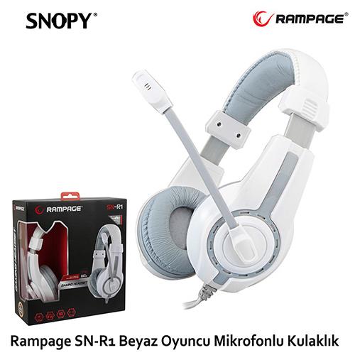 Rampage Gaming Mikrofonlu Kulaklık Siyah/Beyaz SN-R1