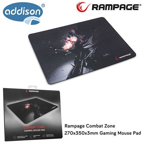 Addison Rampage Combat Zone 270x350x3mm Gaming Mouse Pad