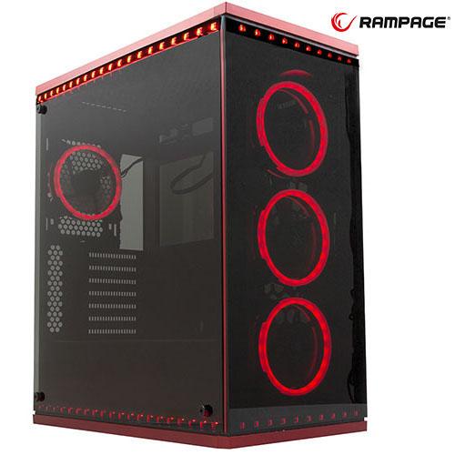 RAMPAGE Temper Pro V5 PSU Yok 4x Temper Panel 4x RGB Fan + 6x RGB Şerit Gaming Kasa
