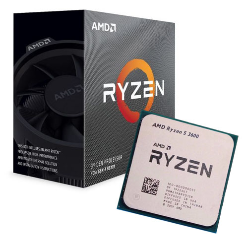 AMD RYZEN 5 3600 6 3.6 GHz 3MB AM4 65W 100-100000031BOX