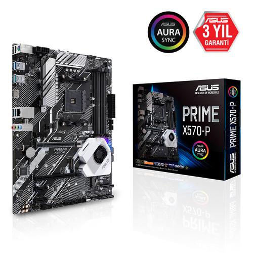 ASUS AMD PRIME X570-P X570 DDR4 3200 HDMI LAN AM4 M.2 SATA USB 3.2 AURA RGB