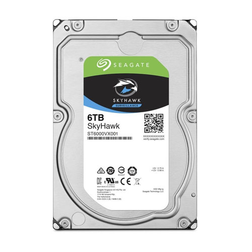 SEAGATE 3.5 SKYHAWK 6TB 5900RPM 256MB SATA3 Güvenlik HDD ST6000VX001 (7/24)