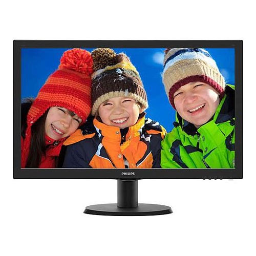 PHILIPS 23.6 243V5QHSBA/01 8Ms VGA-DVI-HDMI Led Monitör Siyah