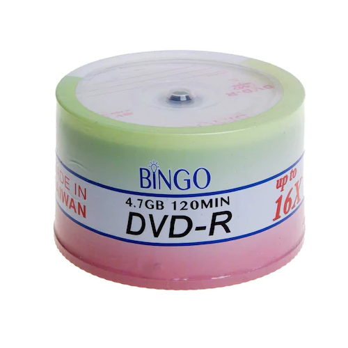 BİNGO 16X 4.7GB 50 li Cakebox DVD-R Prıntable Boş Dvd