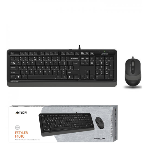 A4 TECH F1010 Q Usb Gri MM Klavye/Mouse Set