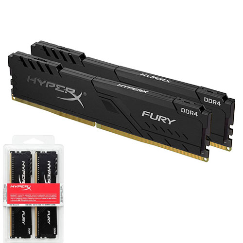 KINGSTON Hyperx Fury 16GB (2X8) 3200Mhz DDR4 Soğutuculu CL16 Pc Ram HX432C16FB3K2/16