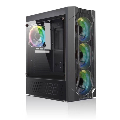 GameBooster GB-L06B PSU Yok Siyah USB3.0 Siyah Double Ring RGB Fan Gaming Kasa