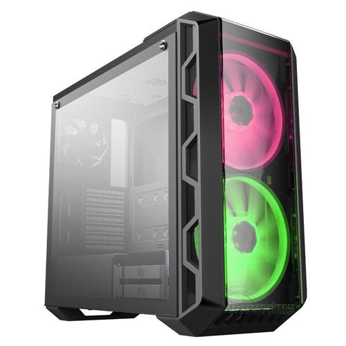 COOLER MASTER H500 RC-MCM-H500-IGNB75-S00 750W 80+ Temperli Panel 2x200mm RGB Led Fanlı Gaming Kasa