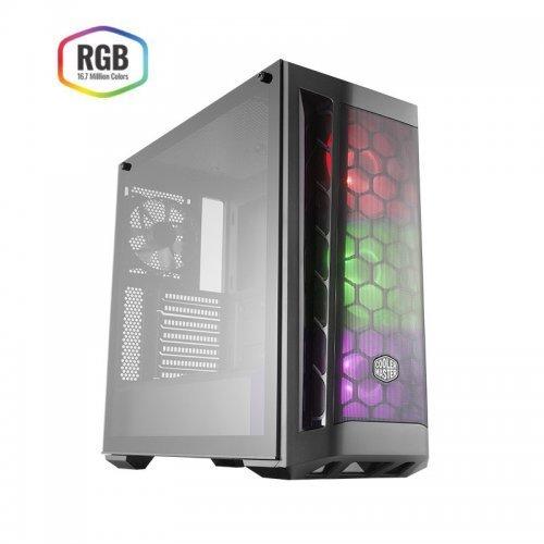 COOLER MASTER MasterBox MB511 RC-MCB-B511D-KGN65-RGB 650W 80+ Tempered Glass pencereli 4 x RGB FANLI Gaming Kasa