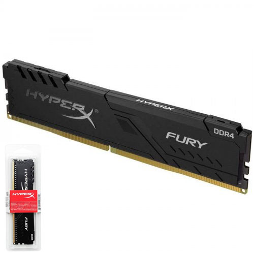 KINGSTON Hyperx Fury Black 16GB 2400Mhz DDR4 CL15 Pc Ram HX424C15FB3/16