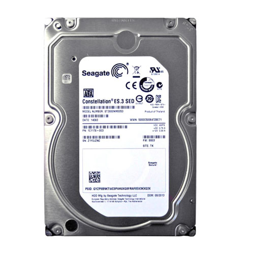 SEAGATE 3.5 CONSTELLATION 3TB SATA 6.0Gb/s 7200RPM 64MB SATA3 ST3000NM0053 (7/24)