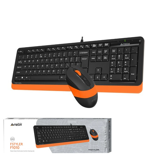 A4 TECH F1010 Q Usb Turuncu MM Klavye/Mouse Set