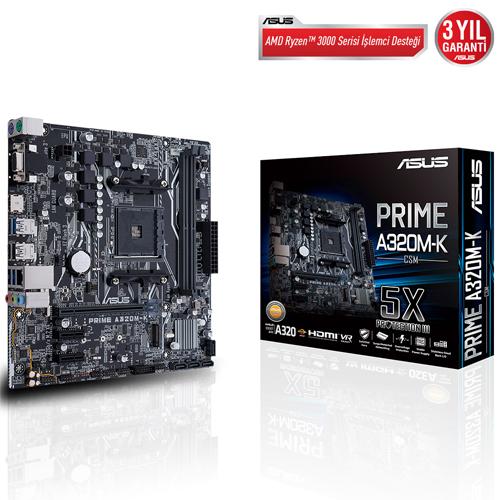 ASUS AMD PRIME A320M-K/CSM A320 DDR4 3200 GLAN AM4 M.2 USB 3.1
