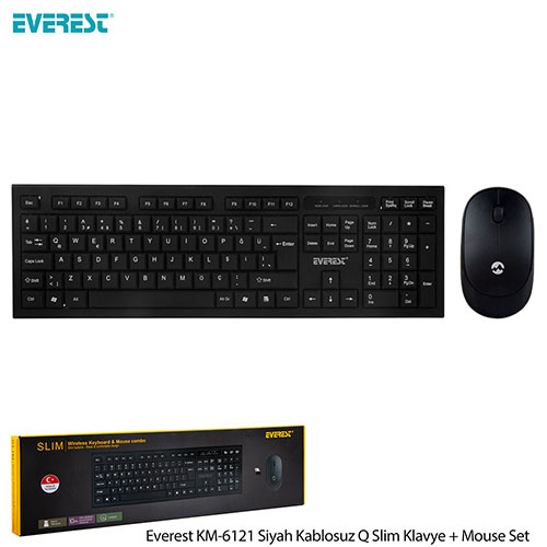 EVEREST KM-6121 Q Slim Kablosuz Beyaz Klavye/Mouse Set