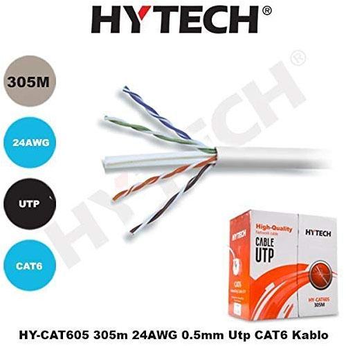 Hytech HY-CAT605 Cat6 Utp ( 305 Metre ) 24 Awg Network Kablosu