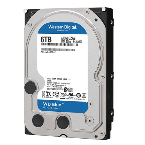 WD 3.5 Blue 6TB 256MB SATA3 PC HDD WD60EZAZ