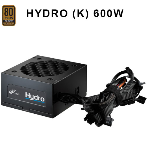 FSP HYDRO K 600W AKTIF PFC 80+ BRONZE Atx Power Supply 120mm Fanlı