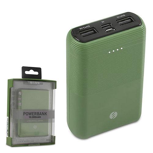 S-LINK IP-S110 10000mAh 2*Usb Port+Micro+Type C Powerbank Haki Yeşil Taşınabilir Pil Şarj Cihazı
