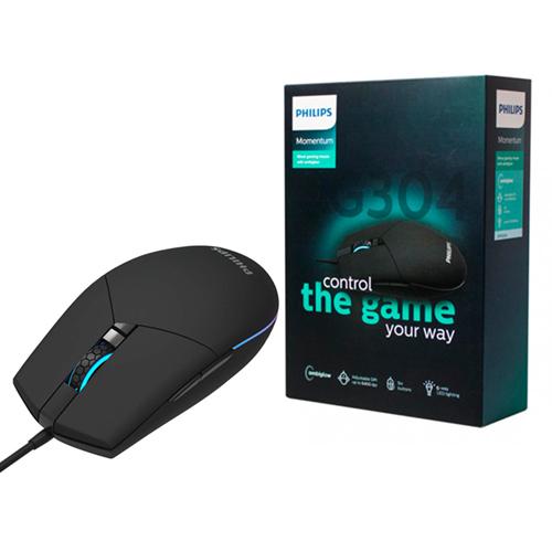 PHILIPS G304 SPK9304 Usb 1200/2400/3200/6400dpi Siyah Gaming Oyuncu Mouse