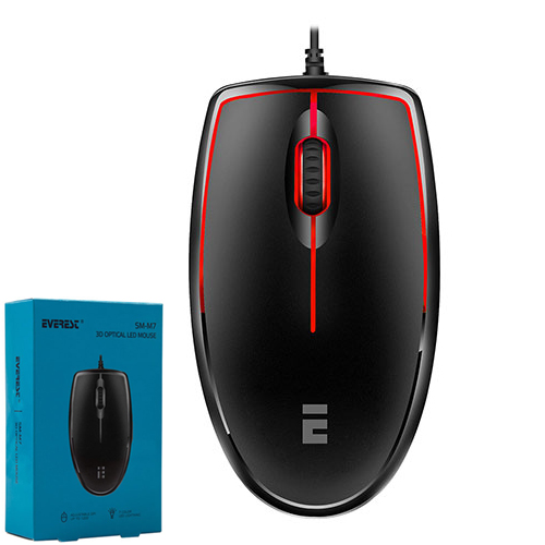 Everest SM-M7 Usb Siyah 3D Optik Led Mouse