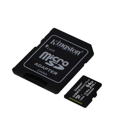 KINGSTON 64GB Canvas Select Plus MICRO SDHC SDCS2/64GB